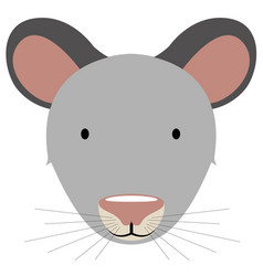 Isolated cute mouse avatar vector