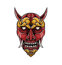 Japanese demon mask vector