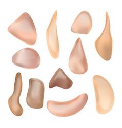 Liquid foundation cosmetic product vector