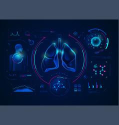lungsdiagnosis vector image