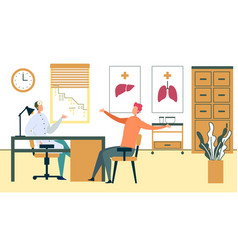 male patient appointment in family doctor office vector image