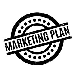 marketing plan rubber stamp vector image