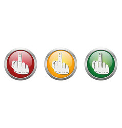 Modern button middle finger vector