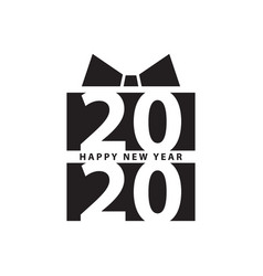modern design 2020 happy new year slogan black vector image