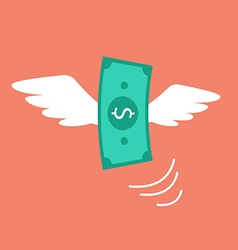 Money flying like a bird vector