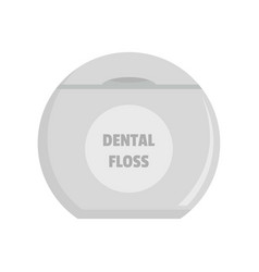 New dental floss icon flat style vector