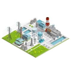 Of Boiler Factory vector image