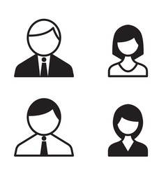 Office people icons set vector