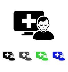 Online medicine flat icon vector
