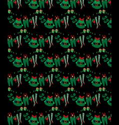 pattern santa s helper mary christmas clothes vector image