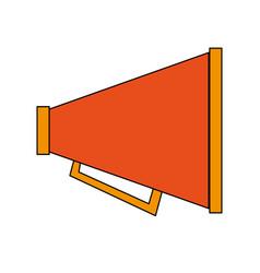 portable loudspeaker megaphone icon image vector image