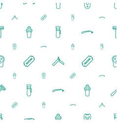 Razor icons pattern seamless white background vector