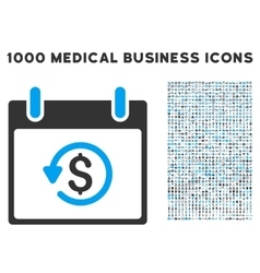 Refund calendar day icon with 1000 medical vector