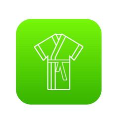 robe icon green vector image