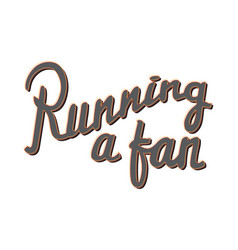 Running a fan running marathon badge lifestyle vector