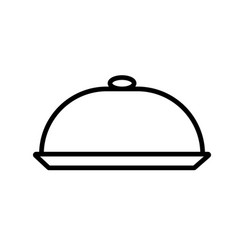 serving dish icon vector image
