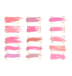 set pastel brush strokes and spots on a white vector image