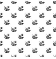 smart roof house pattern seamless vector image