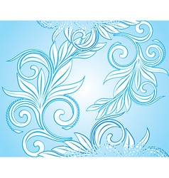 Snowflake and Floral Christmas Design vector