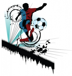 soccer traced vector image