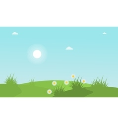 Spring with flower landscape collection stock vector