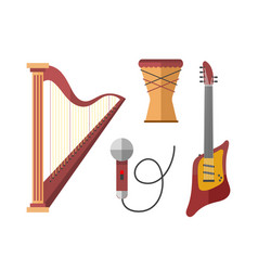 Stringed musical instruments classical harp vector