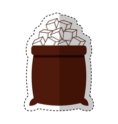 sugar bags isolated icon vector image
