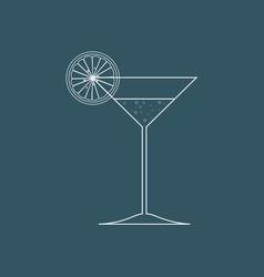 summer drink cocktail garnished with lemon slice vector image