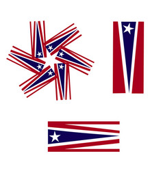 Usa flags symbol icon logo vector