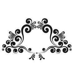 vintage decorative calligraphic border vector image