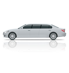 White limousines isolated on white template vector