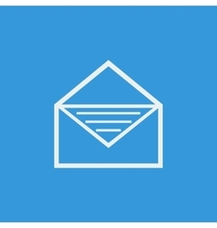 White open envelope icon on blue background vector image