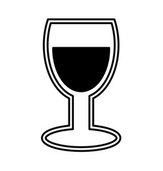 wine cup silhouette isolated icon vector image