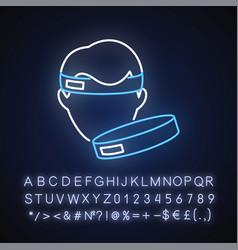 workout headband neon light icon vector image