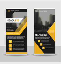 yello black roll up business brochure flyer banner vector image
