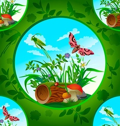 beautiful flowers and insects1 vector image vector image