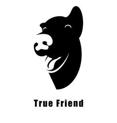 Dog true friend vector