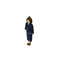 isolated lady isometric businesswoman vector image vector image