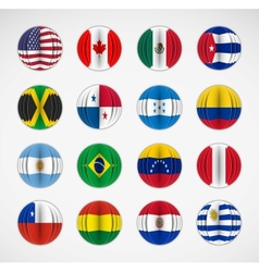 Set of flags vector image