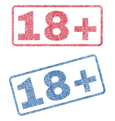 18 plus textile stamps vector image vector image