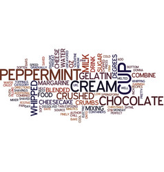 best recipes peppermint cheesecake text vector image vector image