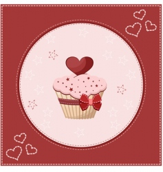 cake greeting card vector image