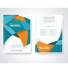 Geometric design business brochures magazines vector image