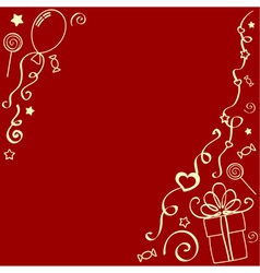 Holiday design elements vector image vector image
