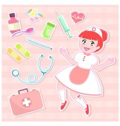 nurse set vector image