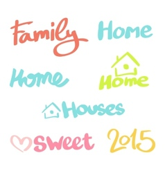 Set words for the logo and design vector image vector image