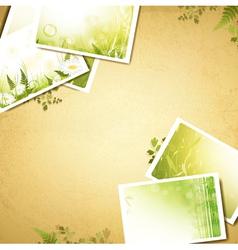 vintage eco background vector image vector image
