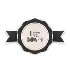 Happy Halloween greeting Emblem Template vector image