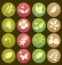 Natural leafs icon gradient style vector image vector image