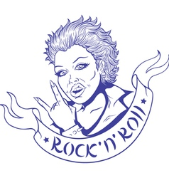 Rock and Roll vector image vector image